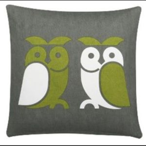 Crate & Barrel CB2 Mid-Century Owl Square Pillow